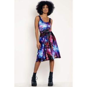Blackmilk galaxy amethyst velvet midi dress